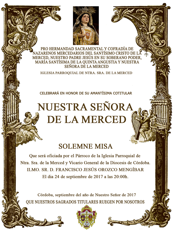 CONVOCATORIA MISA MERCED 2017