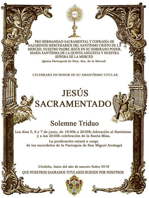 cartel triduo sacramental 2018